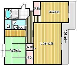 ロイヤルハイツ[3階]の間取り