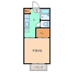 サンハイツK[105号室]の間取り