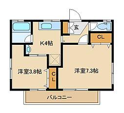 村松荘[2階]の間取り