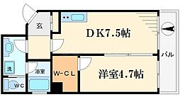 アーバネックス南堀江[6階]の間取り