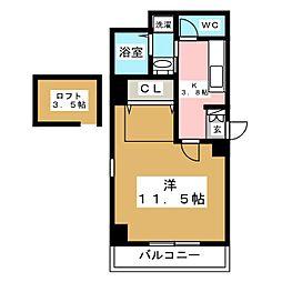 シャローム箱崎[7階]の間取り