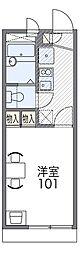 JR阪和線 東岸和田駅 徒歩9分の賃貸アパート 2階1Kの間取り