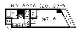 M-ヴィレッヂ寺田町[101号室号室]の間取り