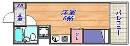 ドミトリー阪急六甲[408号室]の間取り