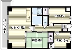 メディシオン鶴見[306号室]の間取り