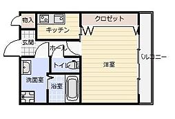 パークコート三萩野[203号室]の間取り