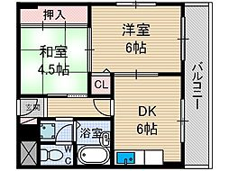 アライブ21[3階]の間取り