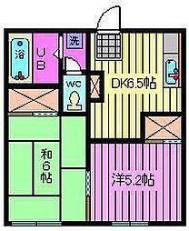 飯塚コーポ[A-201号室]の間取り