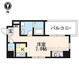 Lui ChanceIII 2階1Kの間取り