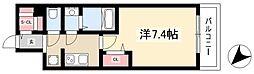 ADVANCE NAGOYA MOXIE 7階1Kの間取り