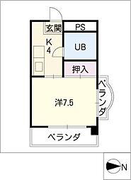 安田コーポ[3階]の間取り