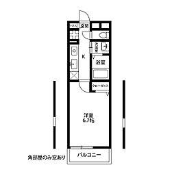 アムール 横須賀中央[201号室]の間取り