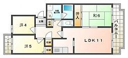 ドミール1061[3階]の間取り