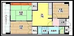 片野レジデンシャルビル[8階]の間取り