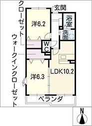 イーメゾンズ豊倉[2階]の間取り