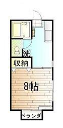 東京都世田谷区大蔵5丁目の賃貸アパートの間取り