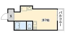 新甲子園マンション[4F号室]の間取り