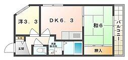 長寿堂恵佳IIBld[2階]の間取り