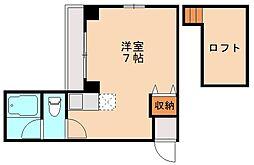 ビバリーハウス井尻IIIB[2階]の間取り