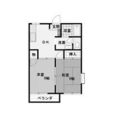 埼玉県さいたま市北区宮原町の賃貸アパートの間取り