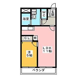 アーバネス桜山[2階]の間取り