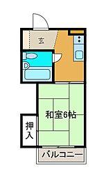 小島コーポ[2階]の間取り