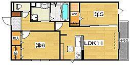 (仮)D-room郡津[1階]の間取り