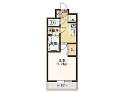 JR大阪環状線 玉造駅 徒歩4分の賃貸マンション 8階1Kの間取り