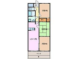 シャロームビオンR[4階]の間取り