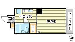 O-4マンション[702号室]の間取り