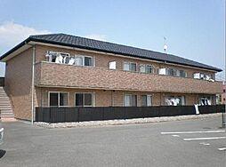 広島県福山市神辺町字徳田の賃貸アパートの外観