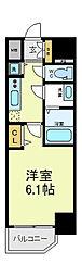 アクアプレイス天王寺2[3階]の間取り