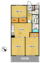 ライオンズマンション東戸塚[B101号室]の間取り