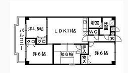 守恒センタービル[2階]の間取り