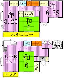 [タウンハウス] 千葉県松戸市稔台7丁目 の賃貸【/】の間取り