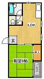 シャルマン江瀬美[3階]の間取り