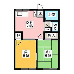 アメニティーハウスB[1階]の間取り