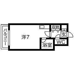 ジョイフル札幌[4階]の間取り