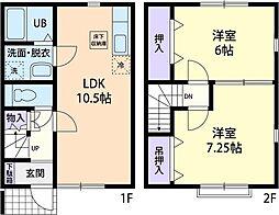 [テラスハウス] 神奈川県厚木市上落合 の賃貸【神奈川県/厚木市】の間取り