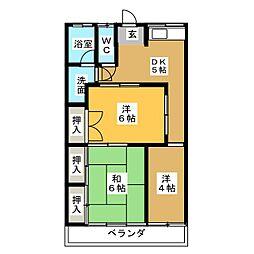 グリーンハイツ清崎[2階]の間取り