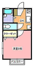 ヨコスカコーポ C棟[201号室]の間取り
