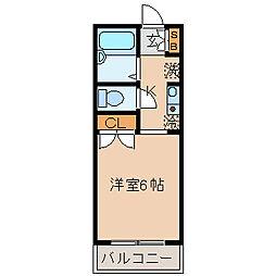 フィールドフジ[3階]の間取り