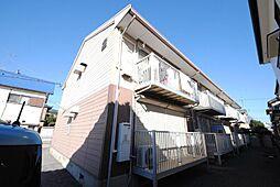 埼玉県越谷市東大沢2丁目の賃貸アパートの外観
