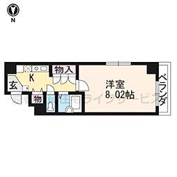 パンセ堀川[203号室]の間取り