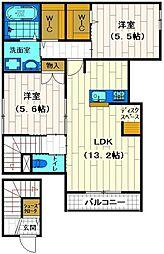 仮称大塚2丁目メゾン[203号室]の間取り