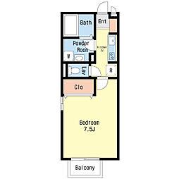 ロイヤルクレスト 五号館[1階]の間取り