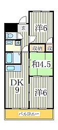 千葉県我孫子市柴崎台2丁目の賃貸マンションの間取り
