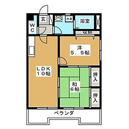 メゾン梅森台[2階]の間取り
