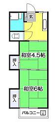 柳沢コーポ[2階]の間取り