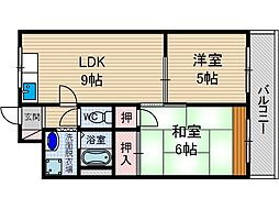 オークマンション[2階]の間取り
